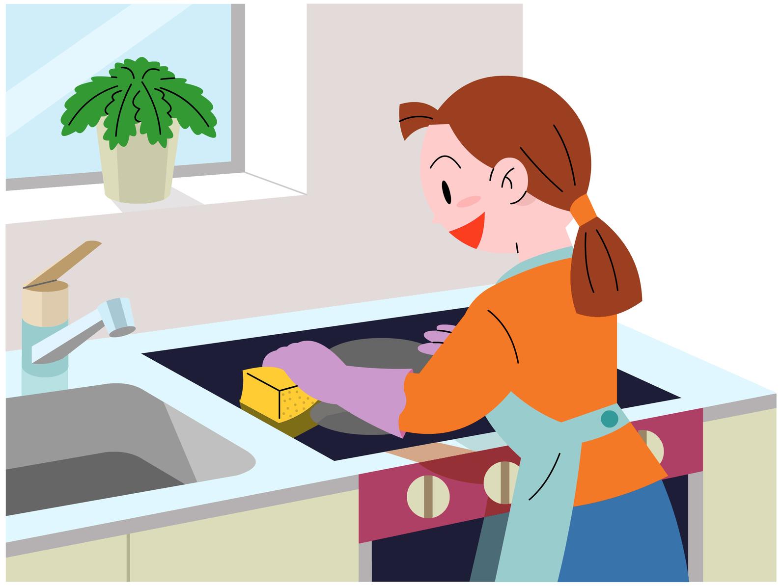 キッチンの清掃