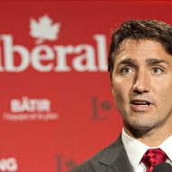 Liberal Leader Justin Trudeau speaks in Edmonton on Aug. 20, 2014. THE CANADIAN PRESS/Jason Franson ORG XMIT: CPT113